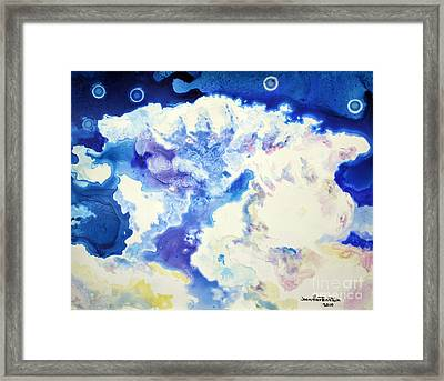 Framed Print featuring the painting Fantasy Cloud by Joan Hartenstein