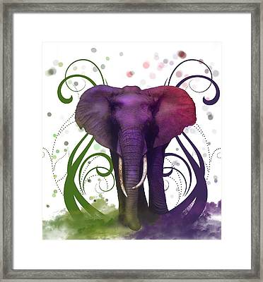 Fantasy Elepant Framed Print by Diana Shively