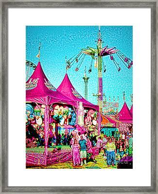 Framed Print featuring the digital art Fantasy Fair by Jennie Breeze