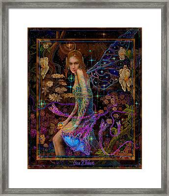 Fantasy Fairy Princess-angel Tarot Card Framed Print