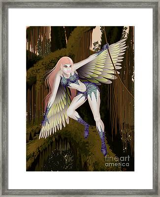 Fantasy Fairy2 Framed Print by Kriss Orayan