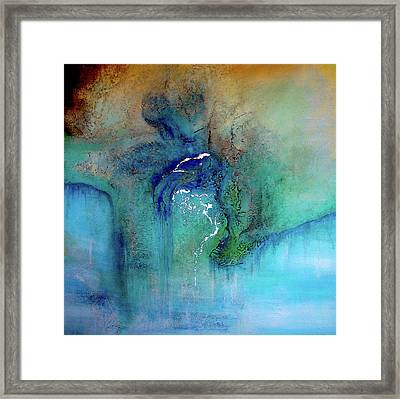 Framed Print featuring the painting Fantasy Falls by Tamara Bettencourt