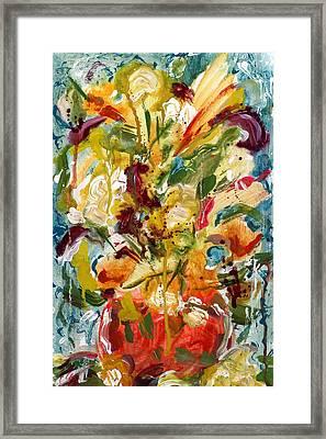 Fantasy Floral 1 Framed Print by Carole Goldman