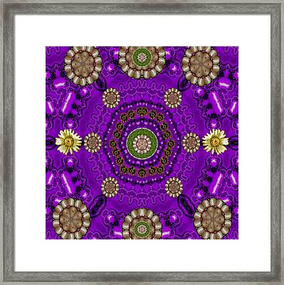 Fantasy Floral In Purple Framed Print by Pepita Selles