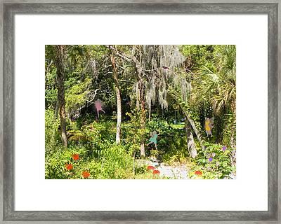 Fantasy Forest Framed Print by Rosalie Scanlon