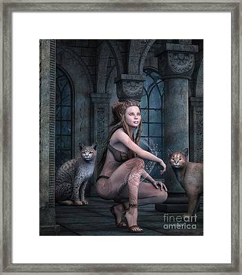 Fantasy Full Moon Night Framed Print by Jutta Maria Pusl