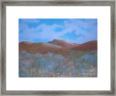 Fantasy Hills Framed Print