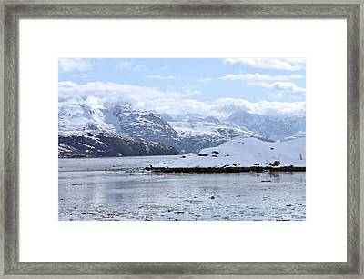 Fantasy In Ice Framed Print by Judith Russell-Tooth