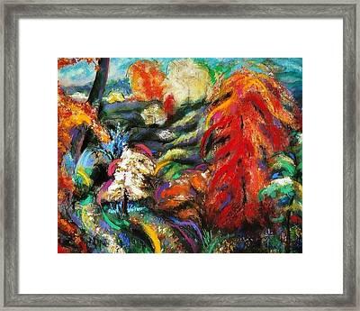 Framed Print featuring the pastel Fantasy Landscape by Jodie Marie Anne Richardson Traugott          aka jm-ART