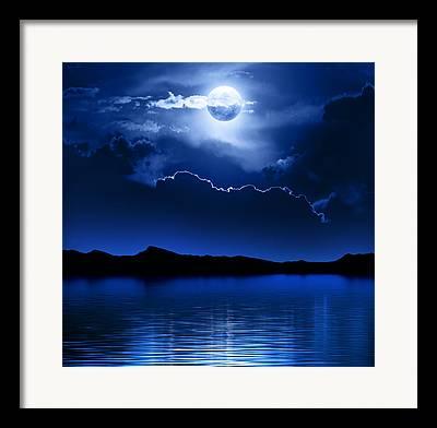 Moonscape Digital Art Framed Prints