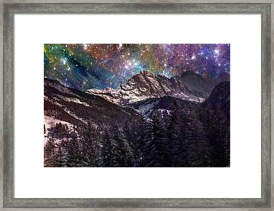 Fantasy Mountain Landscape Framed Print by Martin Capek