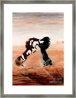 Fantasy Mustangs Framed Print by DiDi Higginbotham