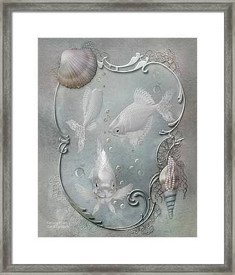 Fantasy Ocean 2 Framed Print by Carol Cavalaris