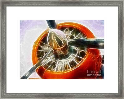 Fantasy Plane Framed Print by Paul Ward