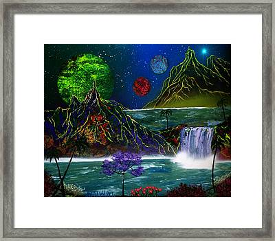 Fantasy Planets Framed Print by Michael Rucker