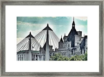 Fantasy London . Old Spires New Framed Print by Connie Handscomb