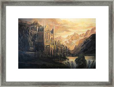 Fantasy Study Framed Print by Donna Tucker