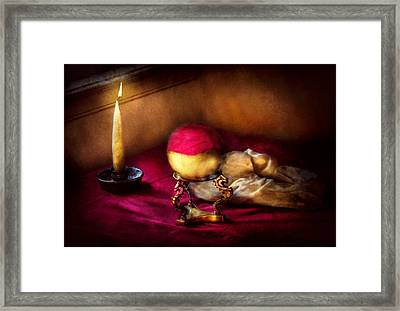Fantasy - The Crystal Ball Framed Print by Mike Savad