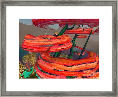 Framed Print featuring the digital art Fantasy Trees by Susanne Baumann