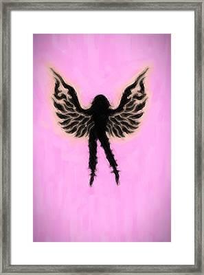 Fantasy Woman Angelish Framed Print