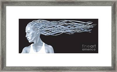 Fantasy Woman Illustration Framed Print by Christos Georghiou