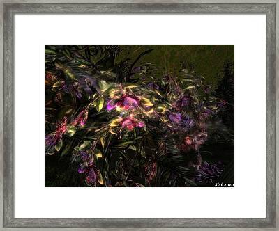 Framed Print featuring the digital art Fantasyflowers by Susanne Baumann