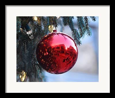 Christmas Market Framed Prints