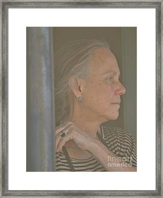 Framed Print featuring the photograph Far Away by Barbara Dudley