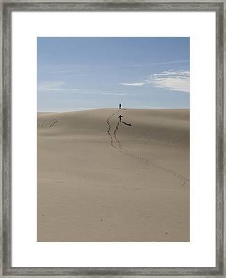 Framed Print featuring the photograph Far Away In The Sand by Tara Lynn