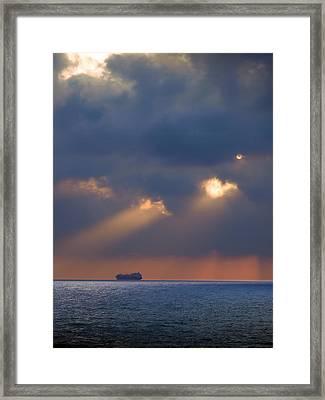 Framed Print featuring the photograph Far Away by Meir Ezrachi