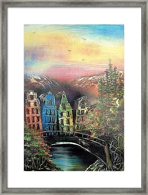 Far Far Away Framed Print by Evaldo Art
