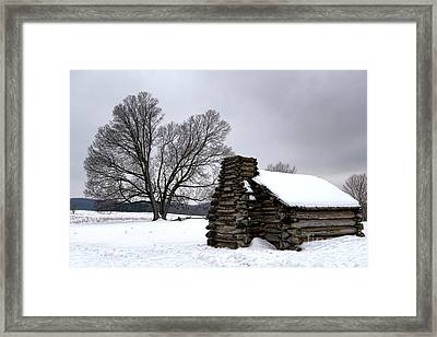 Far From The Battle Framed Print
