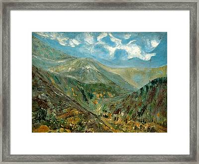 Far From The Ma Dueling Crowd Framed Print