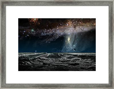 Far Future Earth Framed Print