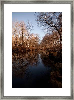 Far Mill River Reflects Framed Print by Karol Livote