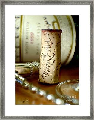 Far Niente Uncorked Framed Print by Jon Neidert