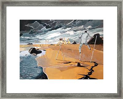 Framed Print featuring the painting Faraway Lejanias by Lazaro Hurtado