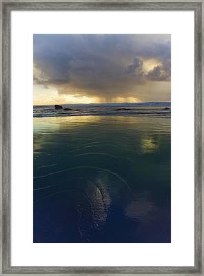 Framed Print featuring the photograph Faraway Rain by Adria Trail