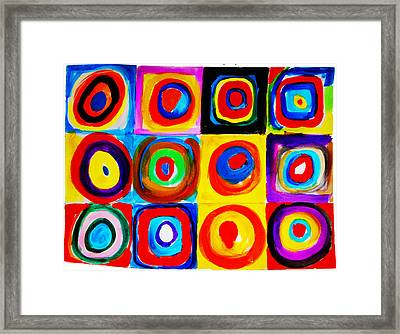 Farbstudie Quadrate Framed Print by Celestial Images