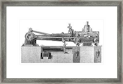 Farcot Steam Engine Framed Print by Science Photo Library