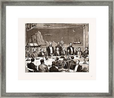 Farewell Banquet Given To Captain Nares And His Fellow Framed Print by Litz Collection