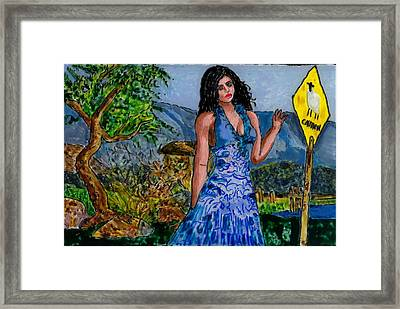 Farewell Caution Framed Print