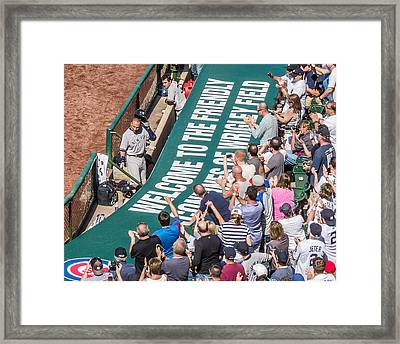Farewell From The Wrigley Faithful Framed Print by Tom Gort