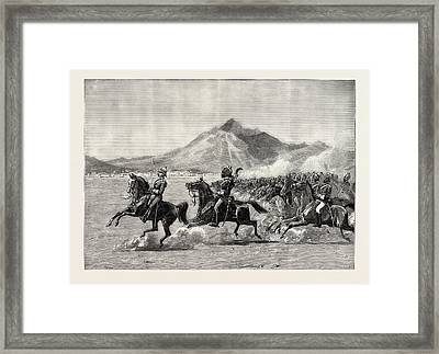 Farewell Review Before H.r.h Framed Print by Pakistani School