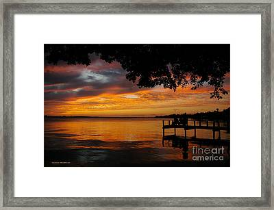Framed Print featuring the photograph Farewell Sunset by Tannis  Baldwin