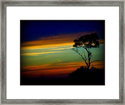 Farewell Sweet Sun Framed Print