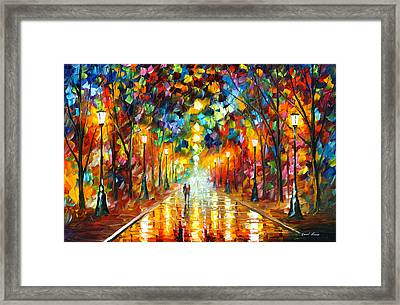Farewell To Anger Framed Print by Leonid Afremov