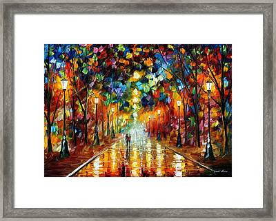 Farewell To Anger - Palette Knife Oil Painting On Canvas By Leonid Afremov Framed Print by Leonid Afremov