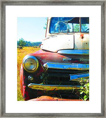 Fargo Red And White Framed Print