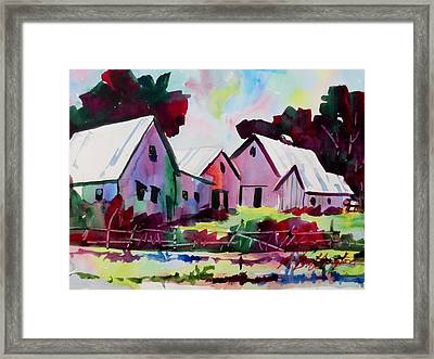 Farm Along Meridian Road Framed Print